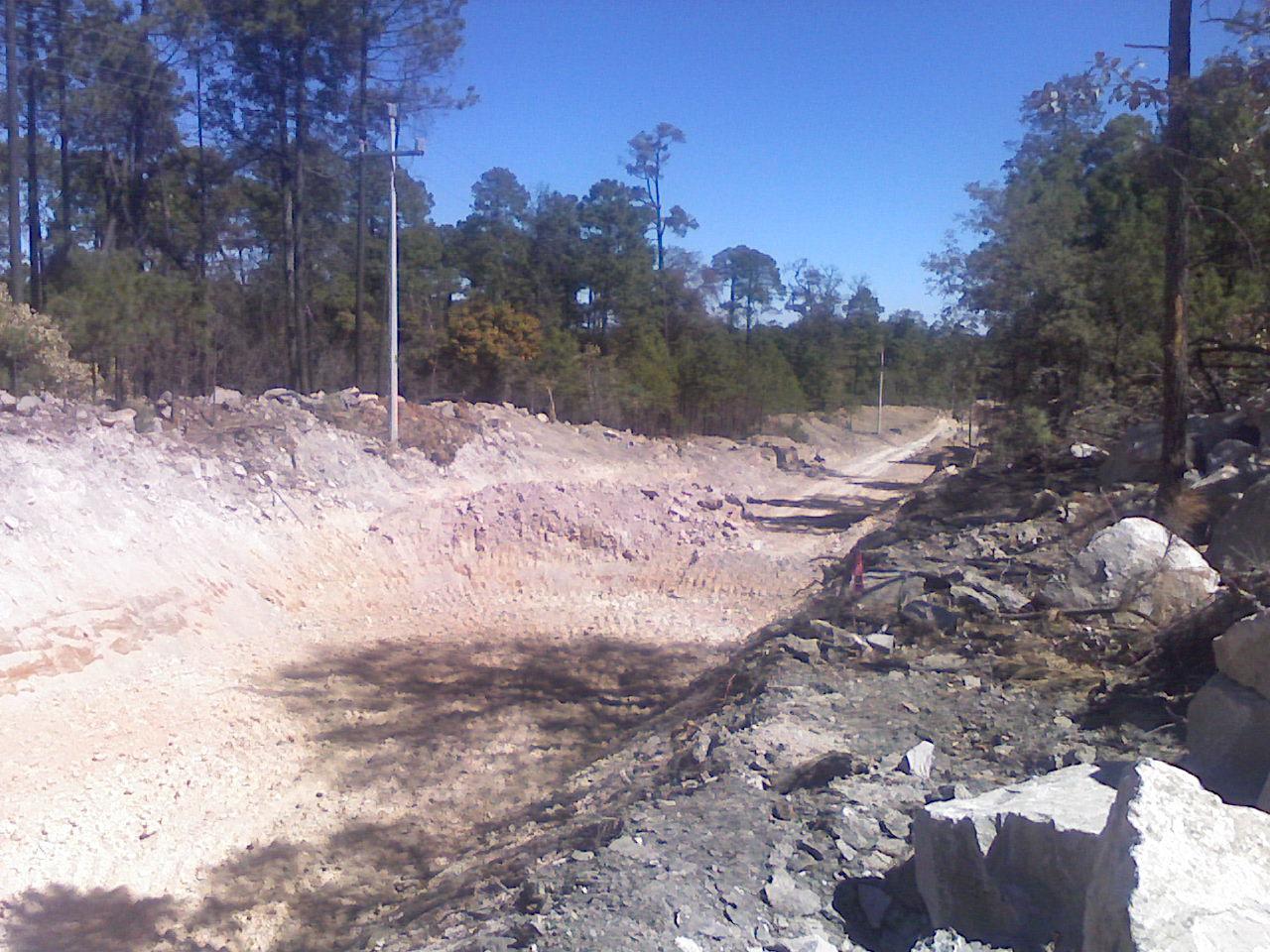 Illegal road cutting through the Community of Tuapurie