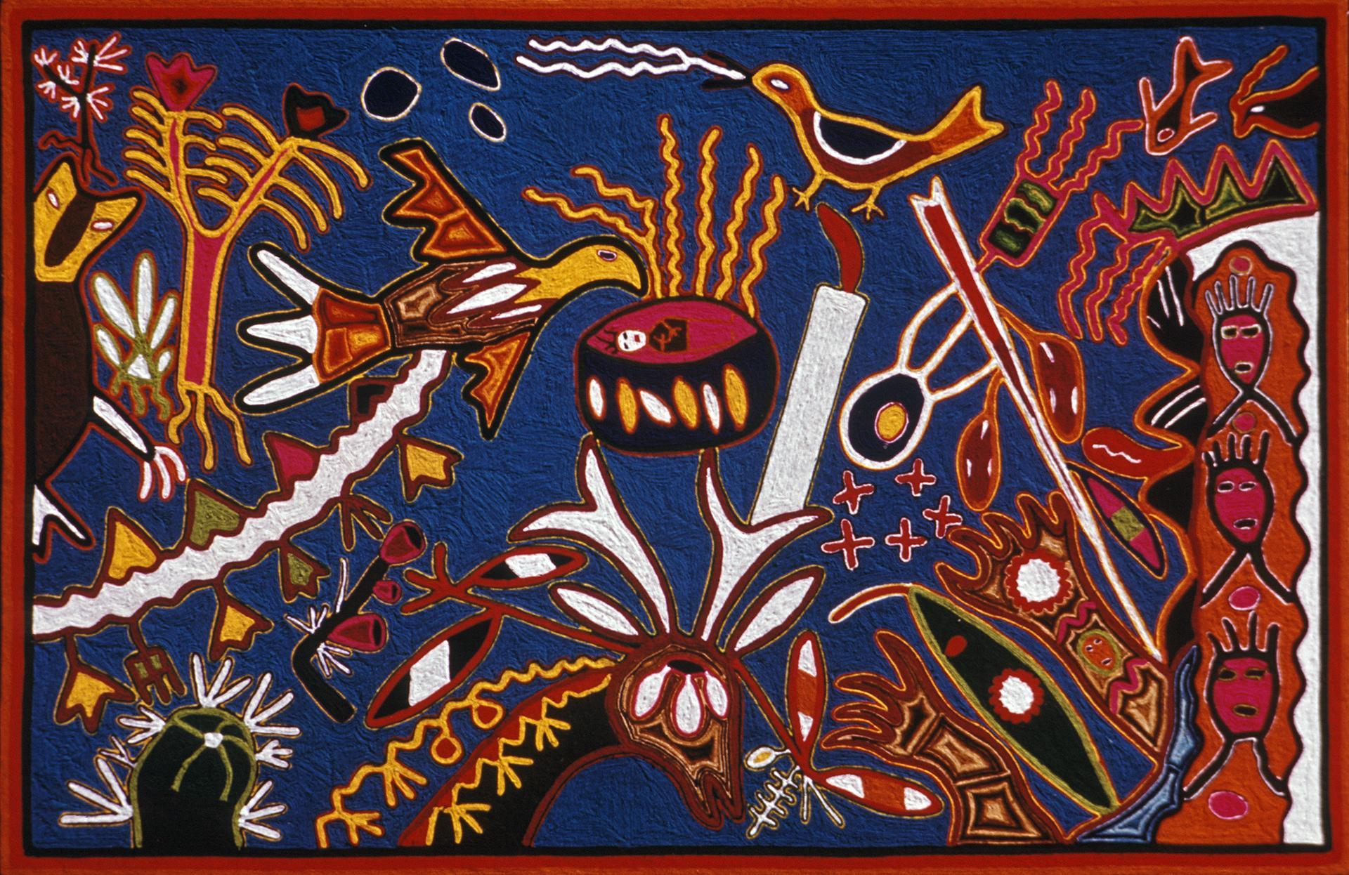 Visions of Blue Deer in Wirikuta - Juan Ríos Martínez 1973