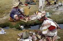 Pilgrims in Wirikuta at the sacred spring Tatei Matinieri - Photograph ©Juan Negrín 1991-2018