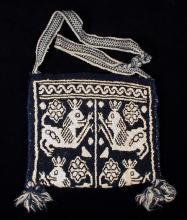 Indigo and white kutsiuri with puma motif - Photograph by Paco Link