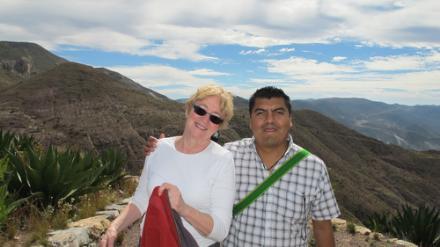 Maude Barlow atop Cerro Quemado with Santos de la Cruz 2010